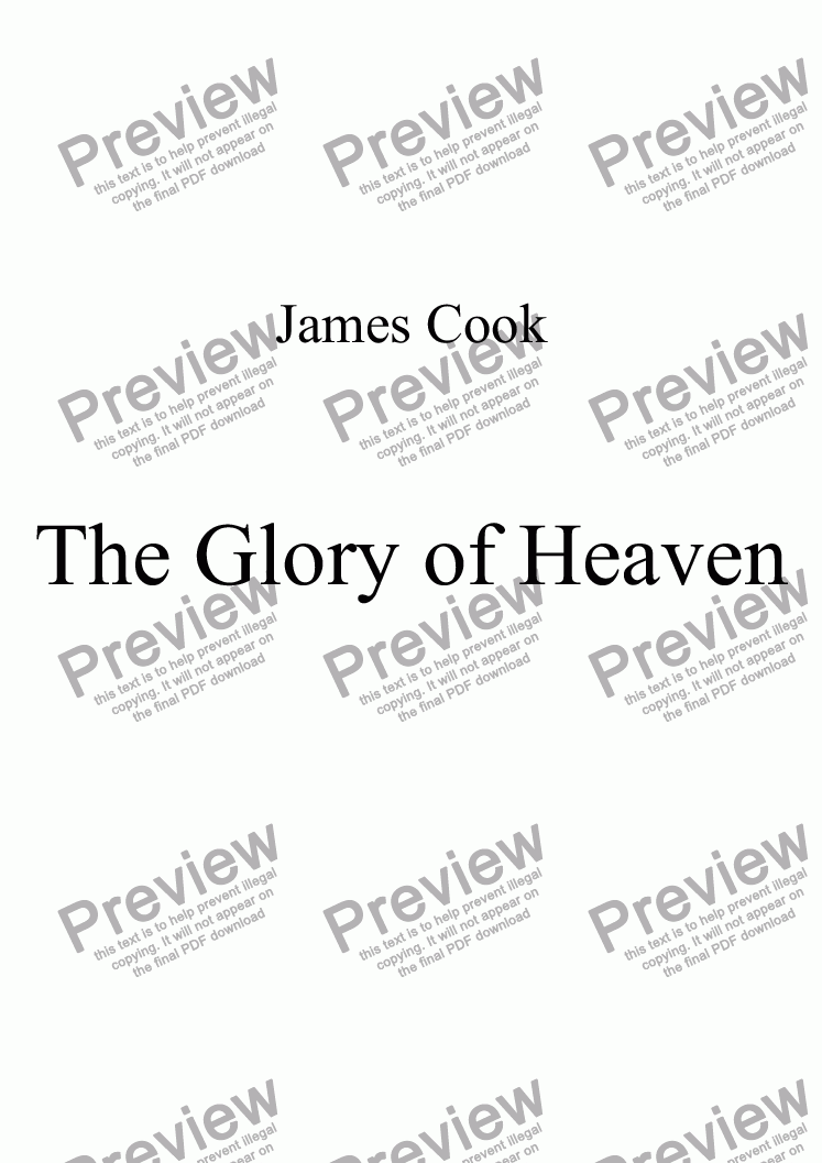 page one of The Glory of Heaven