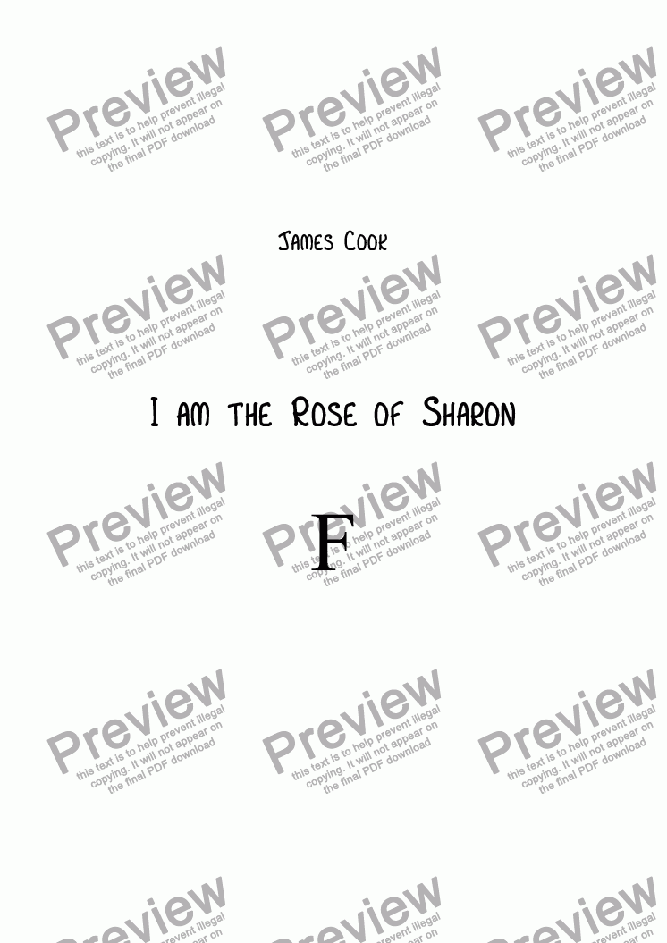 page one of I am the Rose of Sharon