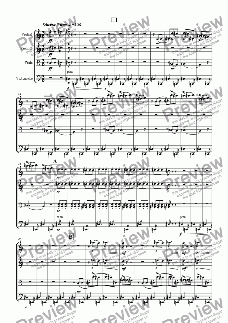 page one of Severity - 3. Scherzo