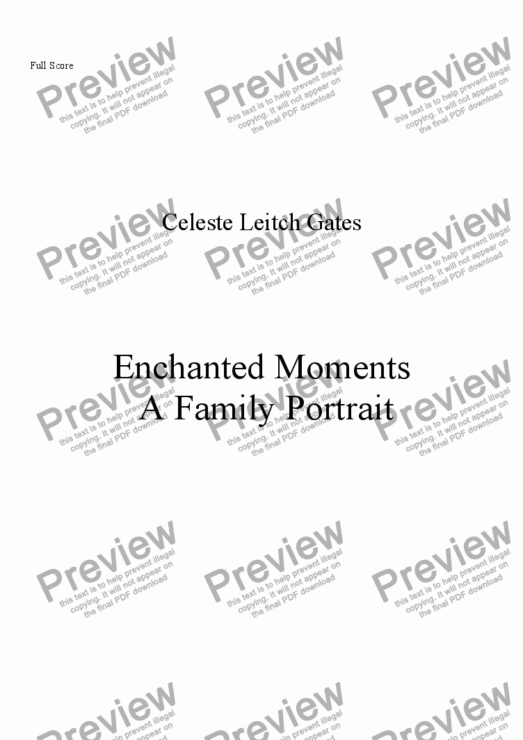 page one of Enchanted Moments for Woodwind Quintet