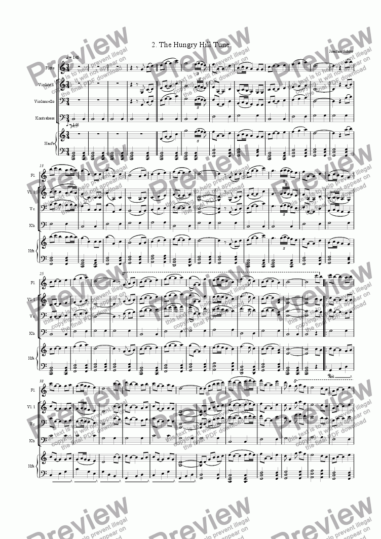 page one of Winter Fiddler 02 (Hungry Hill Tune)