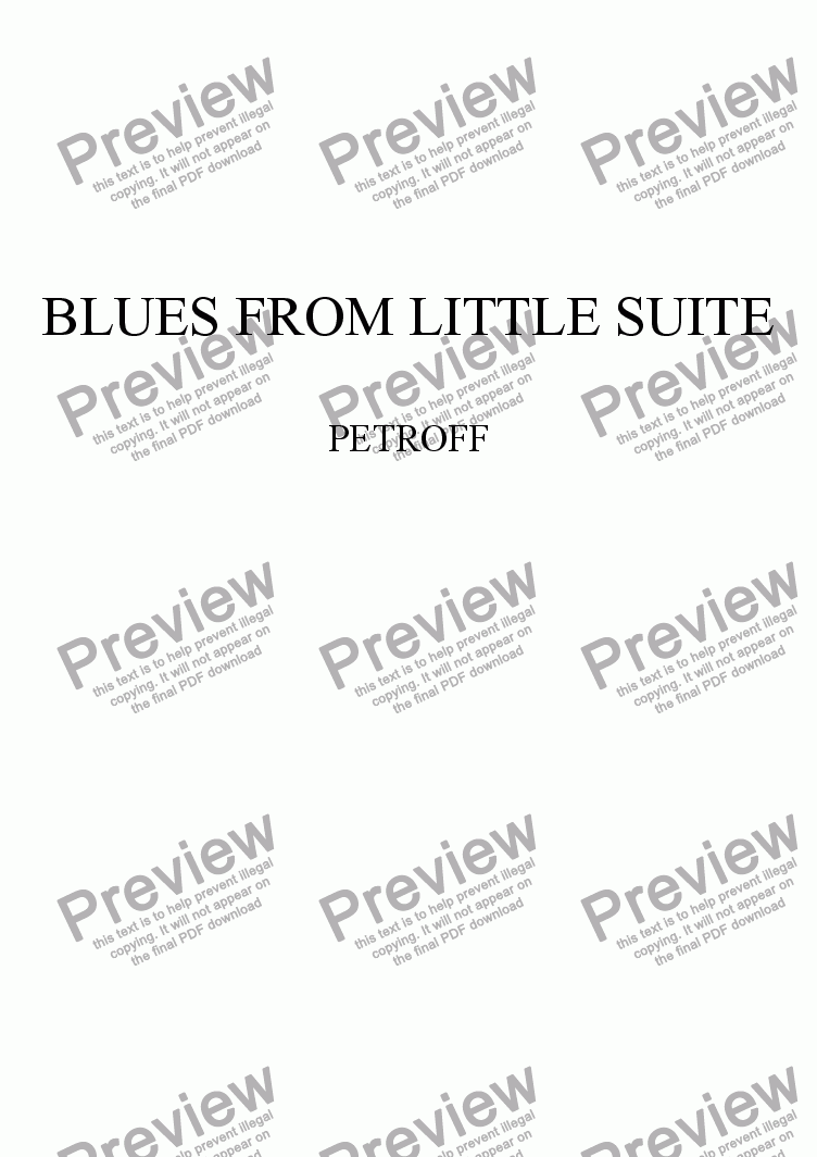 page one of BLUES from Little Suite