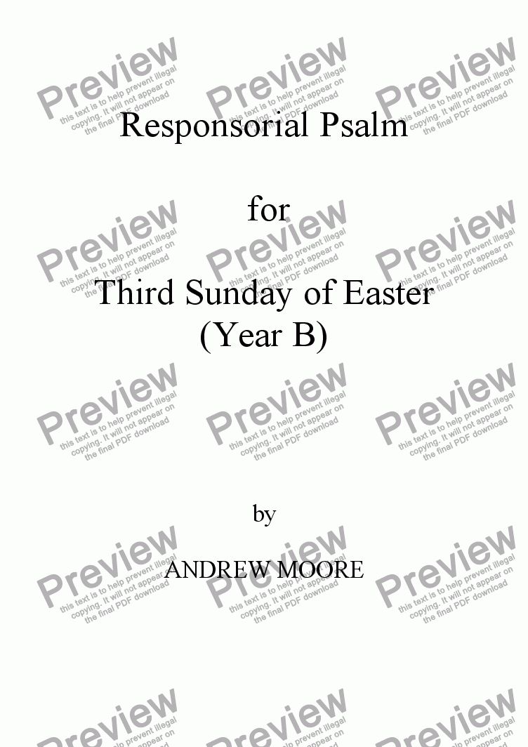 page one of Third Sunday of Easter (Year B)