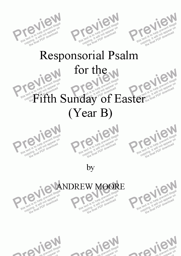 page one of Fifth Sunday of Easter (Year B)