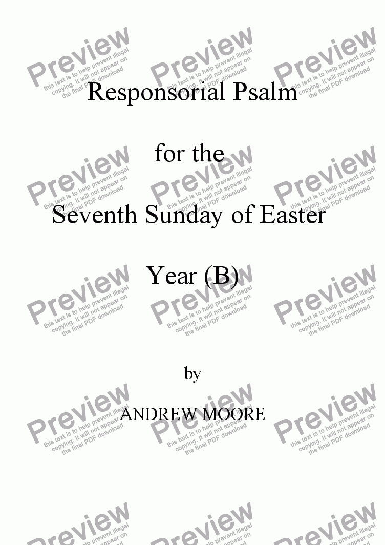 page one of Seventh Sunday of Easter (Year B)