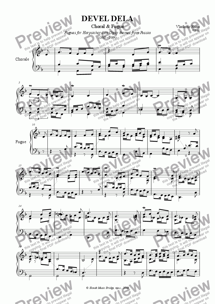 page one of Gipsy Themes from Siberia > Devel Dela