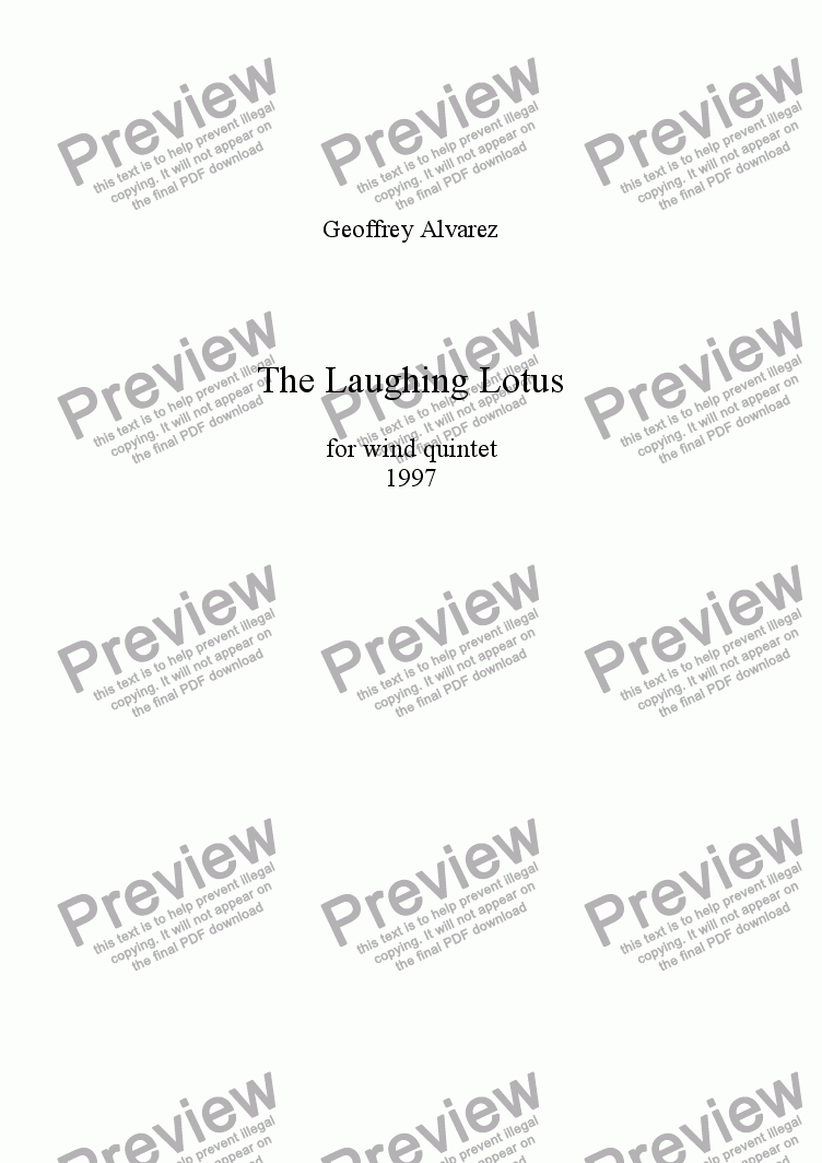 page one of The Laughing Lotus