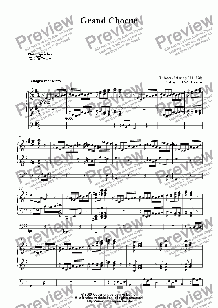 page one of Grand Choeur (Th. Salome)