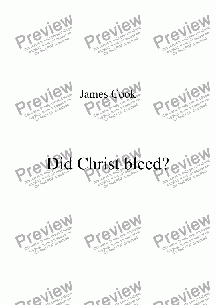 page one of Did Christ bleed?