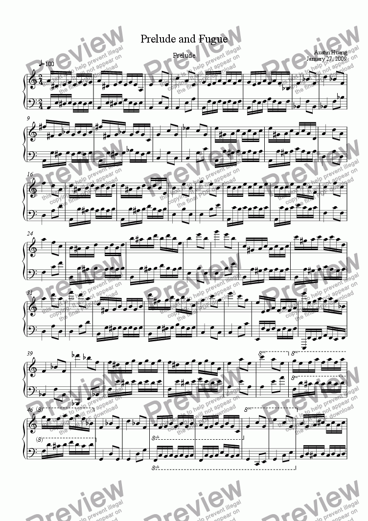 page one of China Series 03: Prelude and Fugue - Prelude