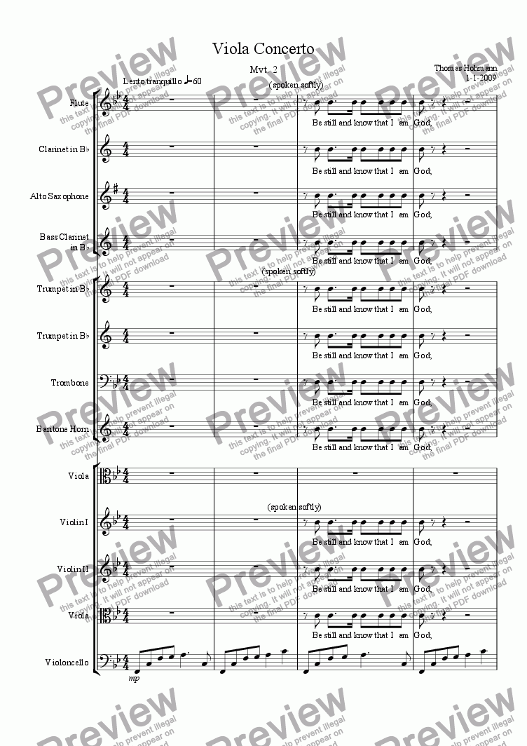 page one of Viola Concerto Mvt. 2