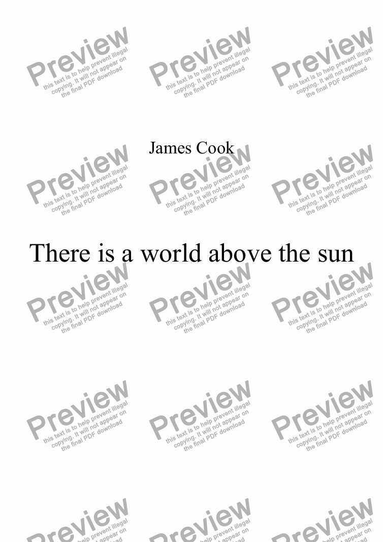 page one of There is a world above the sun