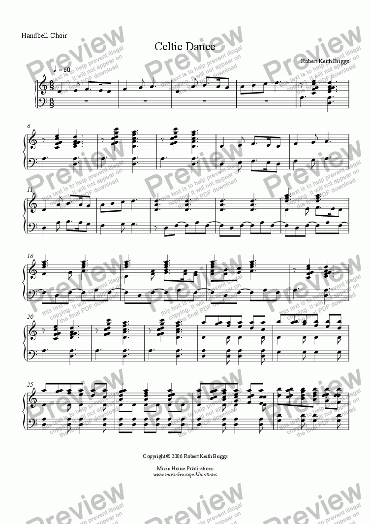 page one of Celtic Dance (Handbell Choir)