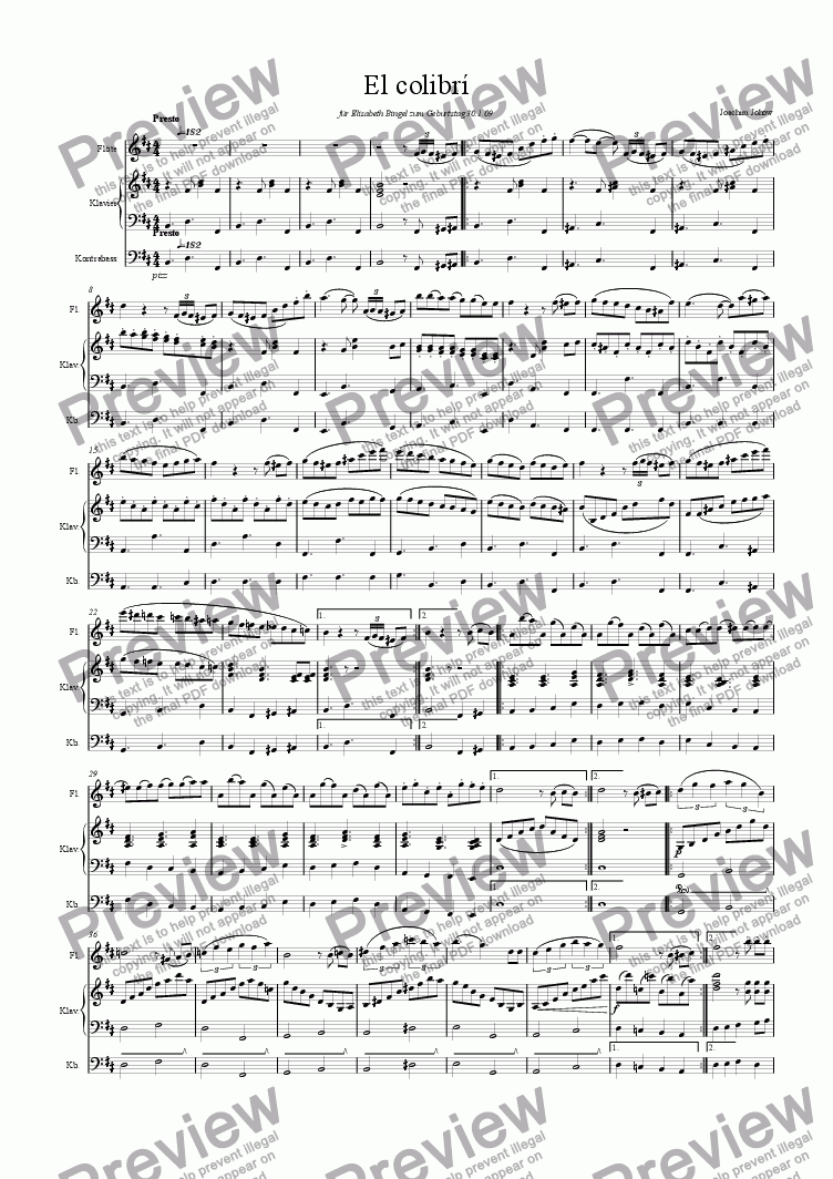 page one of Flute Book 24 (El Colibri)ASALTTEXT
