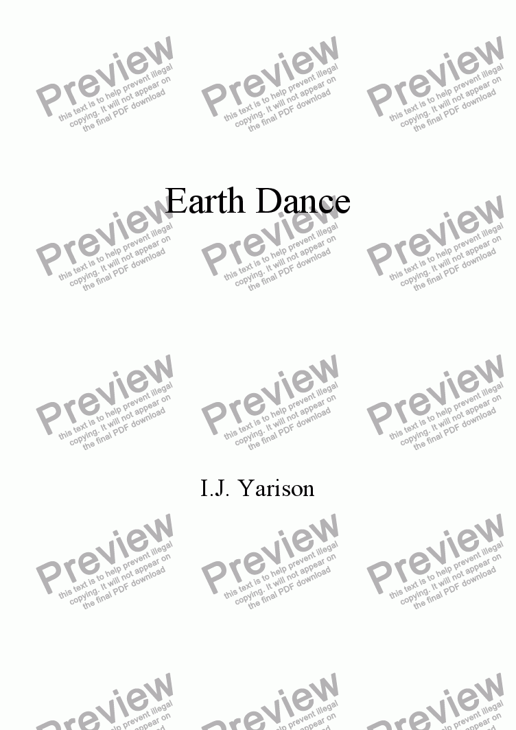 page one of Earth Dance