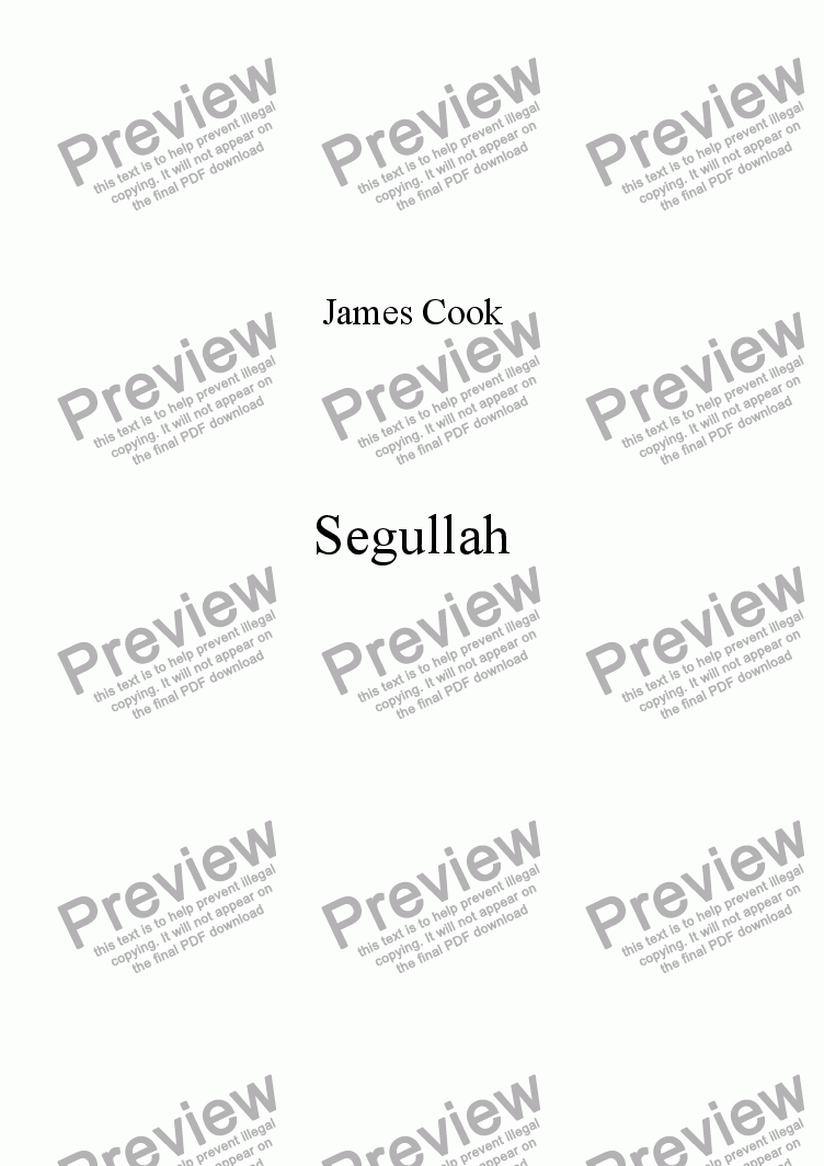 page one of Segullah