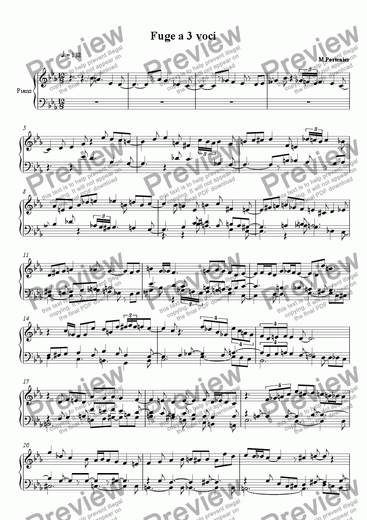 page one of Fuge a 3 voci