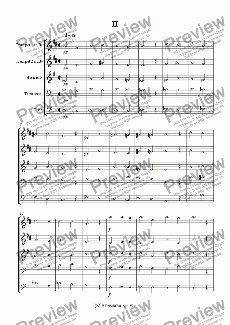 page one of Brass Quintet 2ASALTTEXT