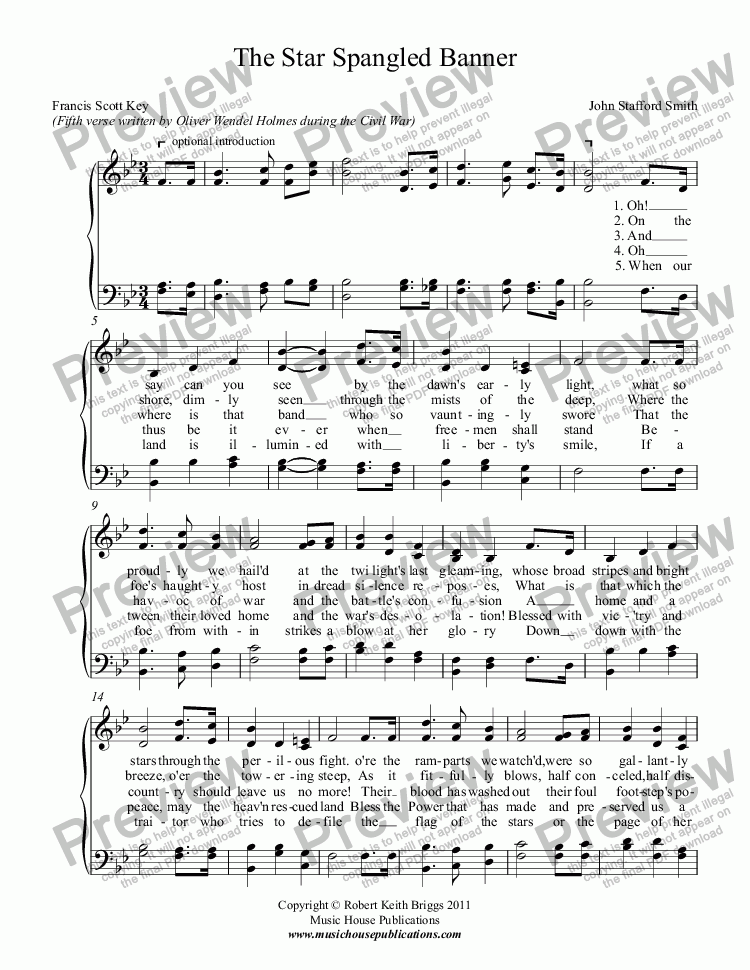 page one of The Star-Spangled Banner (With 5th Verse)