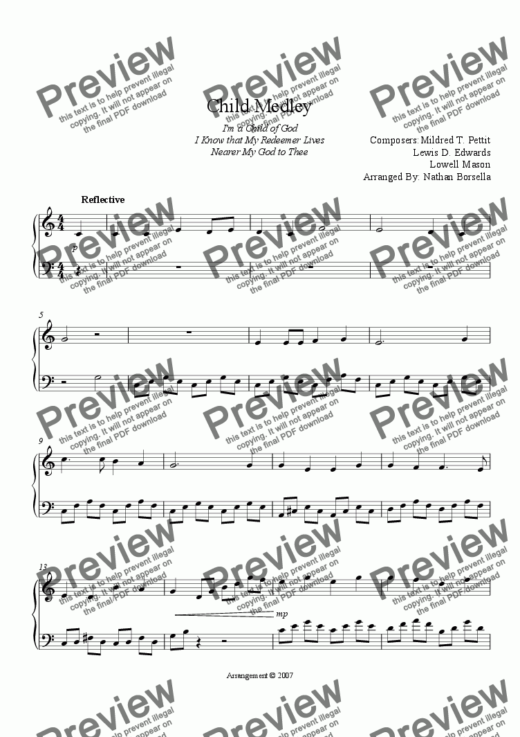 page one of Child Medley
