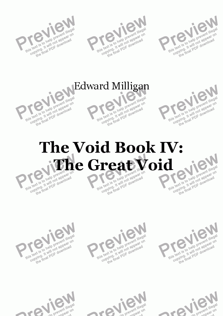 page one of The Void Book IV: The Great Void