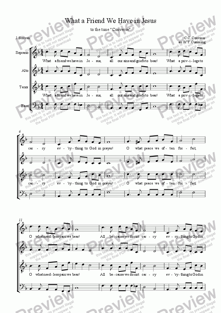 07745d1f2c09d2 What a friend we have in Jesus - Download Sheet Music PDF file