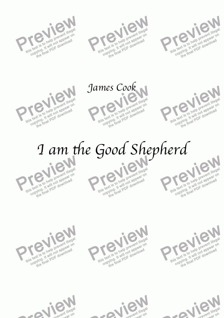 page one of I am the Good Shepherd
