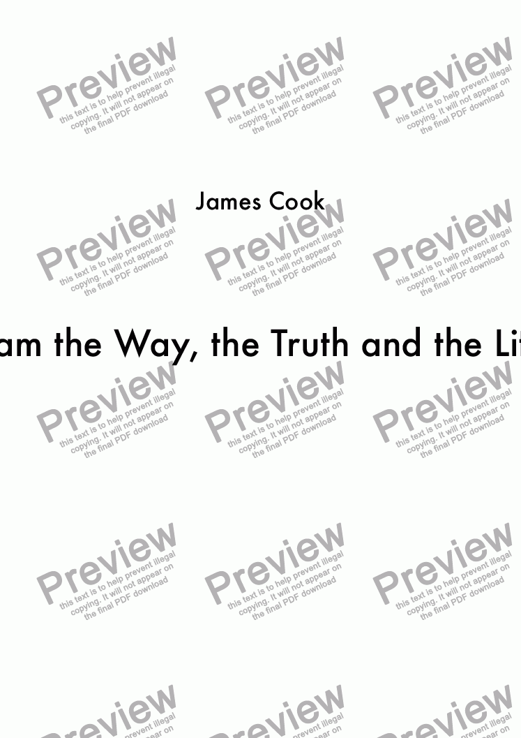 page one of I am the Way, the Truth and the Life