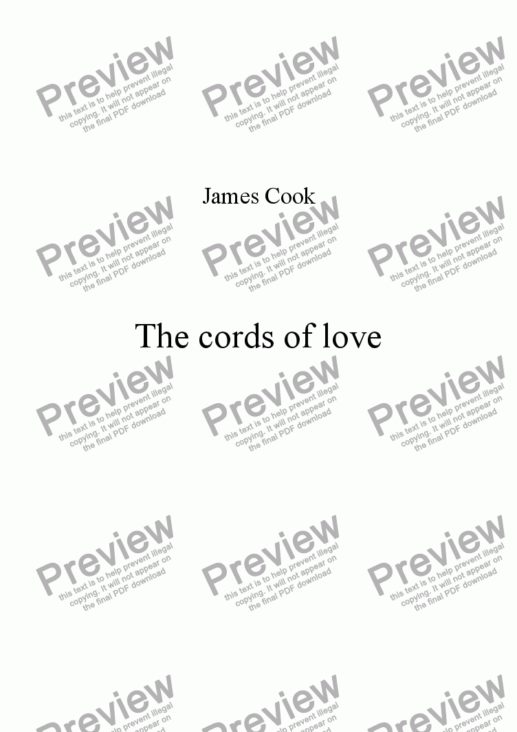 page one of The cords of love