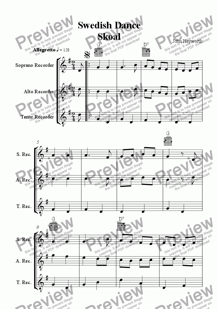 page one of Swedish Dance