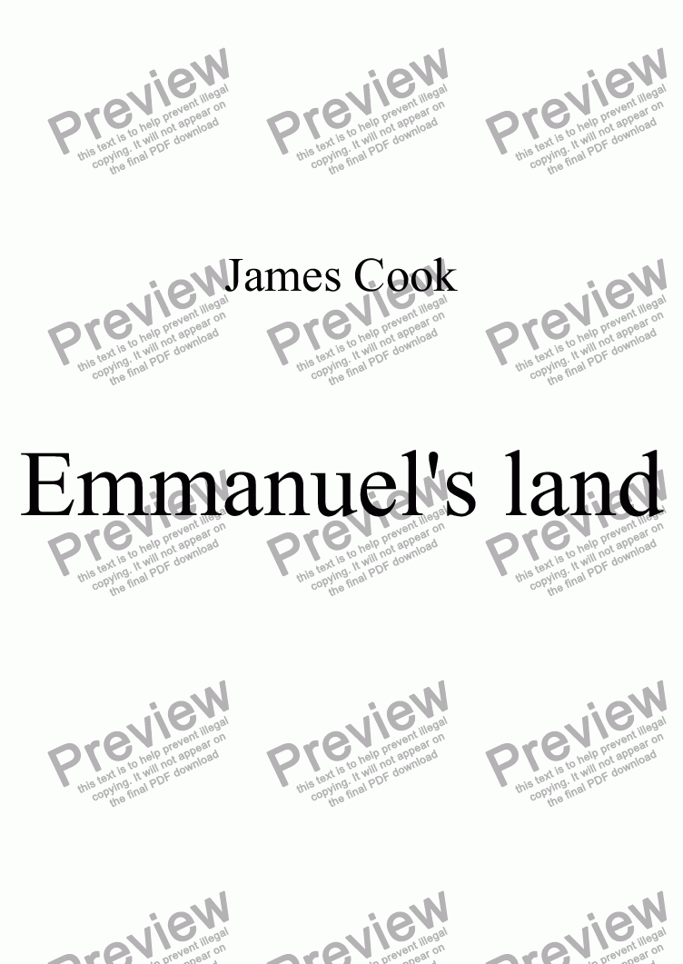 page one of Emmanuel's land