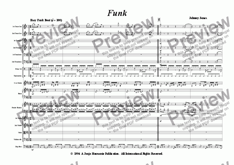 page one of Funk   (Studio Orchestra, Pop Beat)