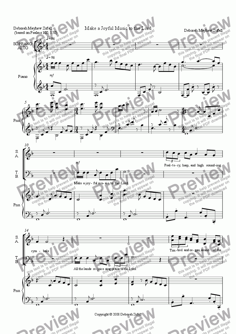 page one of Make a Joyful Music to the Lord