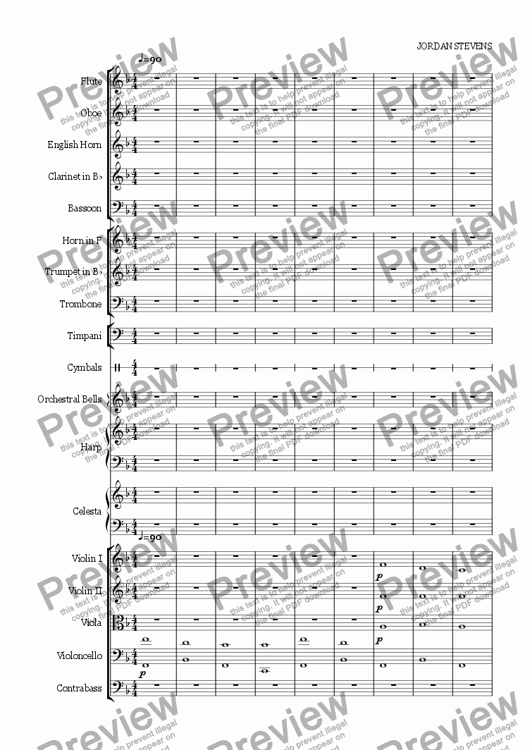 page one of Suite for Screen - 1. Fiddler's Tale