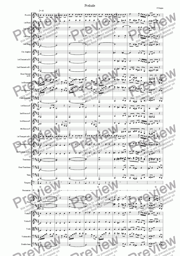 page one of Prelude by Chopin