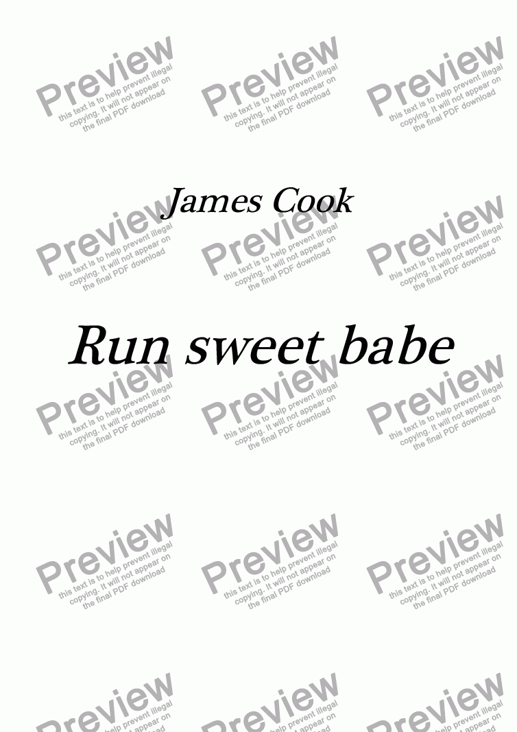 page one of Run sweet babe