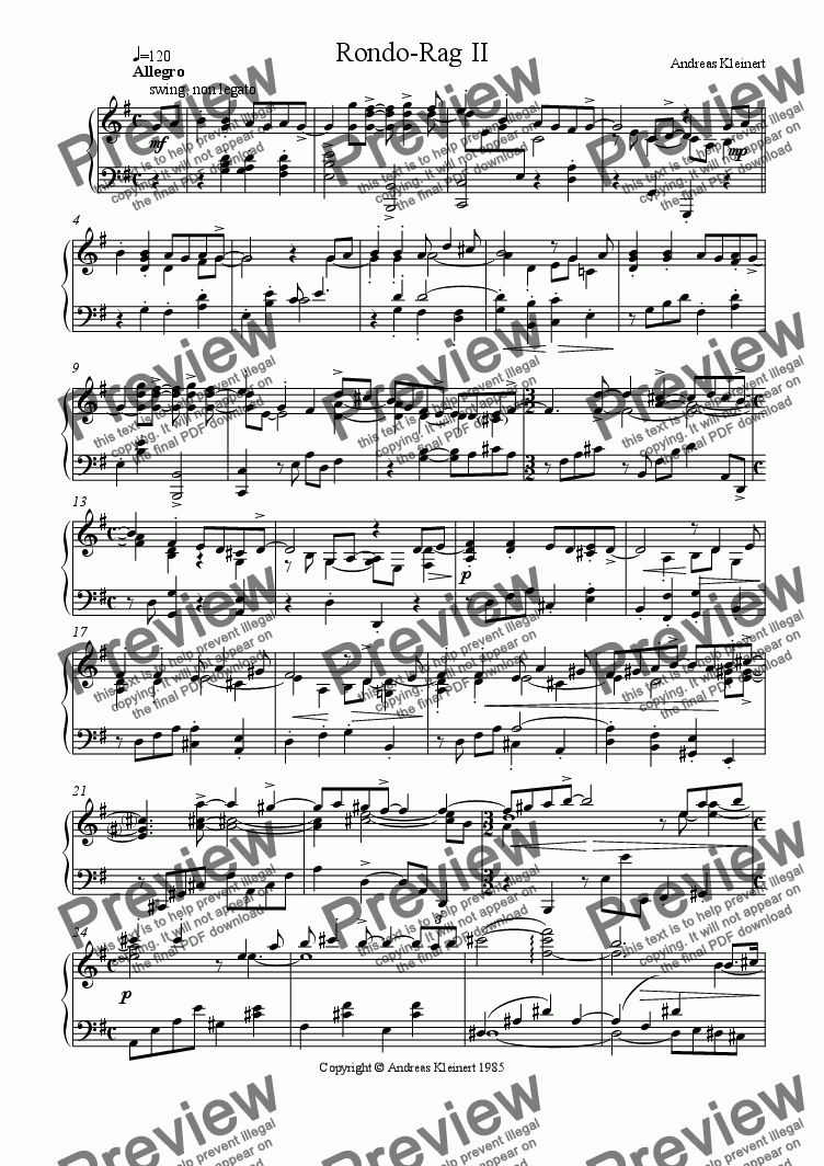 page one of Rondo-Rag I