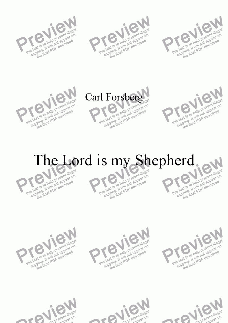 page one of Hymn -The Lord is my Shepherd
