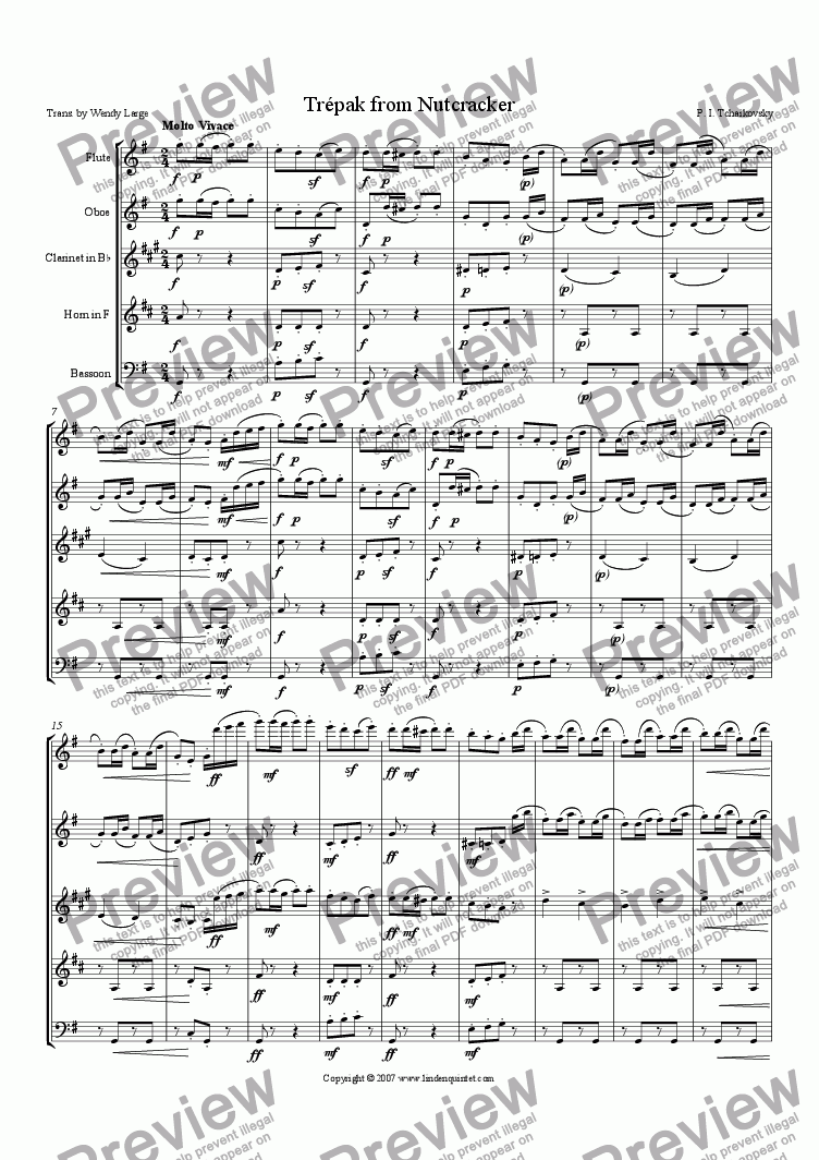 page one of Tchaikovsky - Nutcracker - Trepak