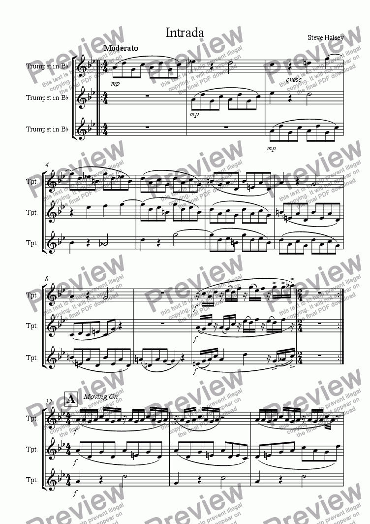 page one of Intrada 1 for TrumpetsASALTTEXT