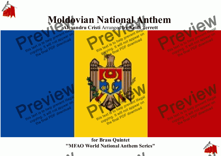 page one of Moldovian National Anthem for Brass Quintet - Limba Noastra  (MFAO World National Anthem Series)
