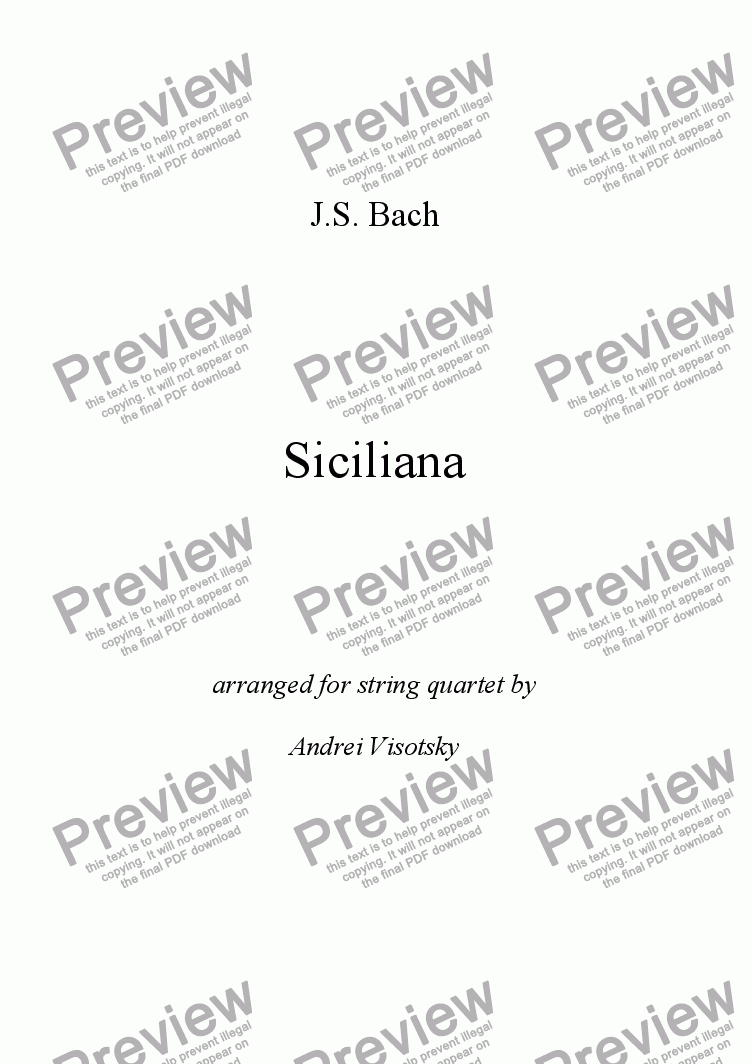 page one of Siciliana