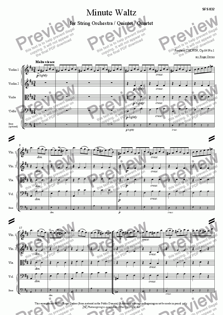 page one of Minute Waltz, Op.64 No.1