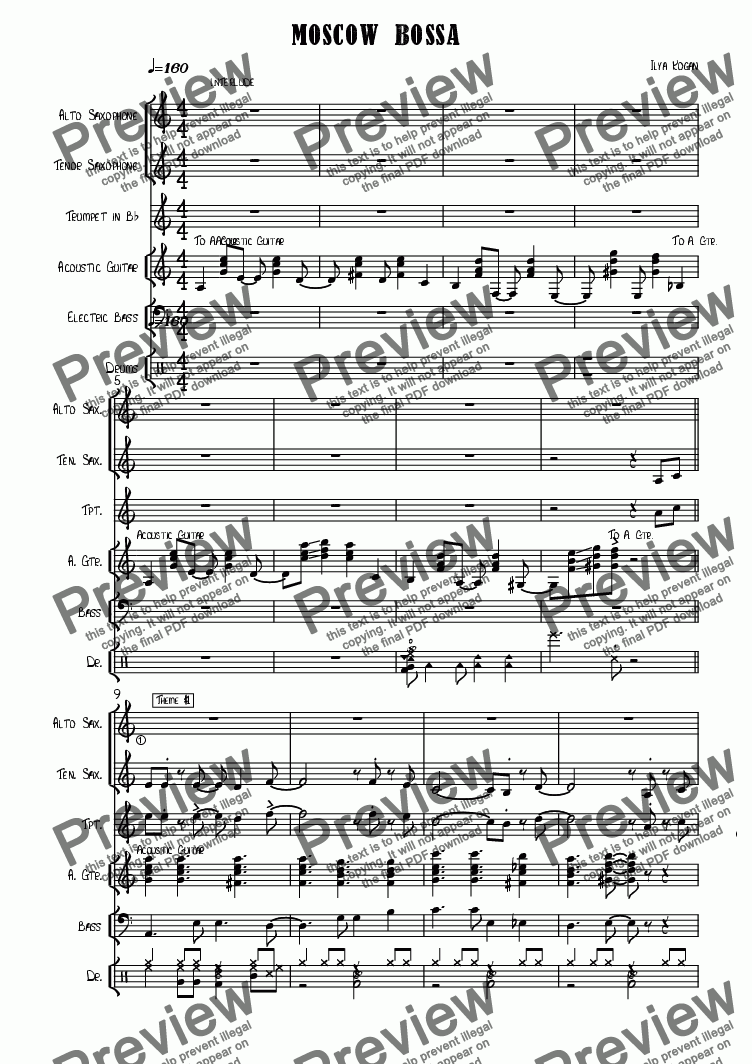 page one of Moscow samba