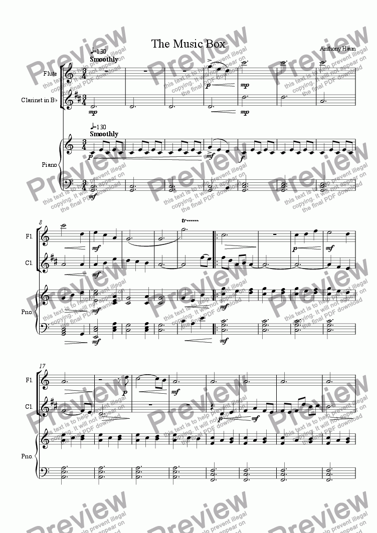 page one of The Music Box