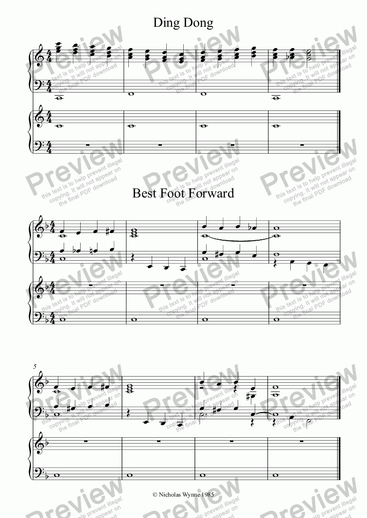 page one of Sight Reading Duets for Pupil and Teacher Book One