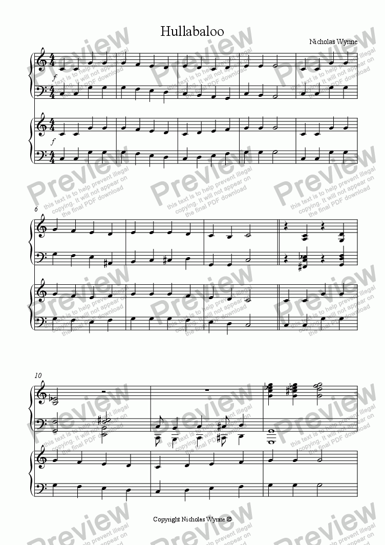 page one of Sight Reading Duets for Pupil and Teacher Book Three - Variations