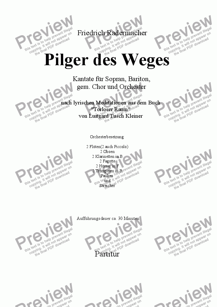page one of Pilger des Weges