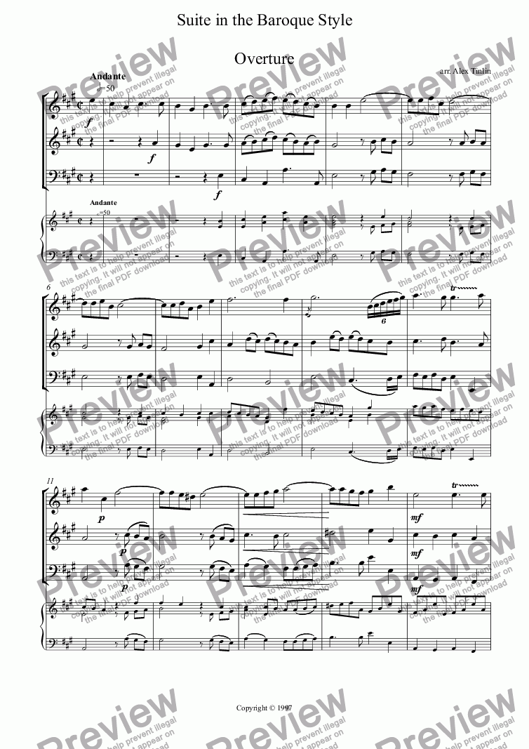 page one of Suite for wind