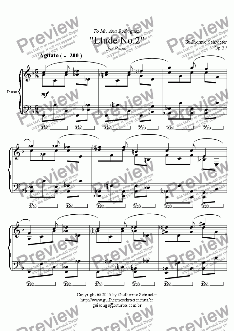 page one of Op.037 - Etude no.2 (F Major)